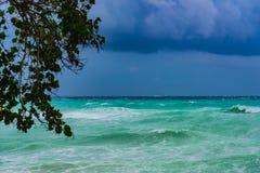 Τυφώνας Irma σύννεφων καταιγίδας θάλασσας Στοκ Εικόνες