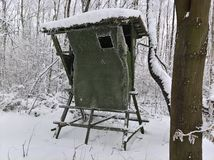 Τυφλός χειμώνας κυνηγιού στοκ φωτογραφίες