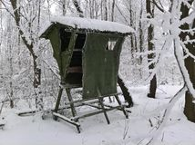 Τυφλός χιονώδης χειμώνας κυνηγιού Στοκ Εικόνες