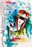 τυφλό κορίτσι απεικόνιση αποθεμάτων
