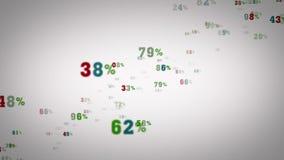 Τυχαία άσπρη μεγέθυνση ποσοστών διανυσματική απεικόνιση