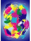 Τυχαία κτυπήματα χρωμάτων Στοκ Εικόνα