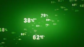 Τυχαία πράσινη μεγέθυνση ποσοστών διανυσματική απεικόνιση