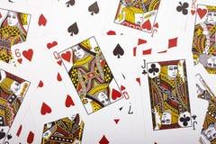 Τυχαίες κάρτες Στοκ εικόνα με δικαίωμα ελεύθερης χρήσης