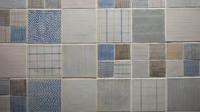 Τυχαίο σχέδιο σχεδίου κεραμιδιών τούβλου Στοκ Φωτογραφίες