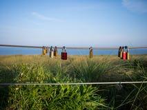 Τυχερές κλειδαριές του καλωδίου Στοκ Φωτογραφία