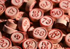 Τυχεροί αριθμοί bingo Στοκ φωτογραφίες με δικαίωμα ελεύθερης χρήσης