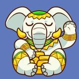 Τυχερός ελέφαντας στοκ φωτογραφία