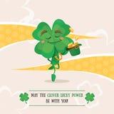Τυχερός ιρλανδικός χορός χορού τριφυλλιού διανυσματική απεικόνιση