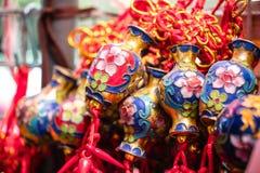 Τυχερός κόμβος, διακόσμηση μπρελόκ τύχης για το κινεζικό νέο ντεκόρ έτους Στοκ φωτογραφία με δικαίωμα ελεύθερης χρήσης