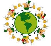 τυχερό αρσενικό leprechauns κύκλων & διανυσματική απεικόνιση