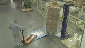Τυλίγοντας μηχανή τεντωμάτων απόθεμα βίντεο