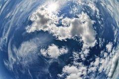 Τυλιγμένος ουρανός Στοκ εικόνες με δικαίωμα ελεύθερης χρήσης