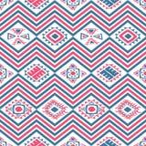 Των Αζτέκων άνευ ραφής σχέδιο χρώματος Στοκ Εικόνα
