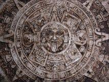 των Αζτέκων ημερολόγιο Στοκ Εικόνα
