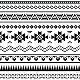 Των Αζτέκων μεξικάνικο άνευ ραφής σχέδιο απεικόνιση αποθεμάτων