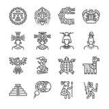 Των Αζτέκων σύνολο εικονιδίων Περιέλαβε τα εικονίδια ως maya, των Μάγια, φυλή, αντίκα, πυραμίδα, πολεμιστή και περισσότερους απεικόνιση αποθεμάτων