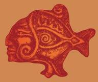 των Αζτέκων ψάρια απεικόνιση αποθεμάτων