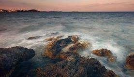 Των Βαλεαρίδων $νήσων θάλασσα Ibiza Στοκ Φωτογραφία