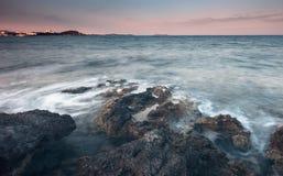 Των Βαλεαρίδων $νήσων θάλασσα Ibiza Στοκ Εικόνα