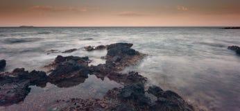 Των Βαλεαρίδων $νήσων θάλασσα Ibiza Στοκ Εικόνες