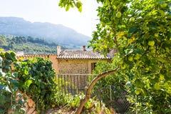 Των Βαλεαρίδων $νήσων patio σπιτιών Majorca στις Βαλεαρίδες Νήσους Στοκ Εικόνες