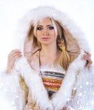 Των Εσκιμώων όμορφο κορίτσι Στοκ εικόνες με δικαίωμα ελεύθερης χρήσης