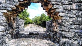 Των Μάγια καταστροφές cozumel στοκ φωτογραφία με δικαίωμα ελεύθερης χρήσης