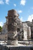 Των Μάγια καταστροφή Tulum, Μεξικό Στοκ Φωτογραφίες