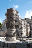 Των Μάγια καταστροφή Tulum, Μεξικό Στοκ εικόνα με δικαίωμα ελεύθερης χρήσης