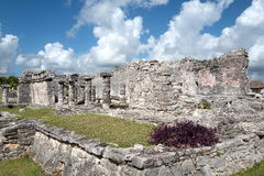 Των Μάγια καταστροφή Tulum, Μεξικό Στοκ Εικόνα