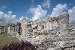 Των Μάγια καταστροφή Tulum, Μεξικό Στοκ Φωτογραφία