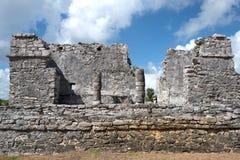 Των Μάγια καταστροφή Tulum, Μεξικό Στοκ Εικόνες
