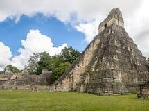 Των Μάγια ναός Ι ιαγουάρος Gran στο εθνικό πάρκο Tikal - Γουατεμάλα Στοκ Φωτογραφίες