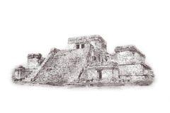 Των Μάγια πυραμίδα Kukulcan EL Castillo σε Chichen Itza, Μεξικό Στοκ Εικόνες