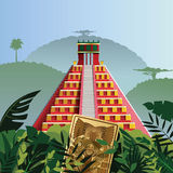 Των Μάγια πυραμίδα Acient Στοκ Φωτογραφία