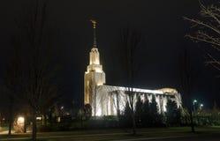 Των Μορμόνων ναός τη νύχτα στοκ φωτογραφία με δικαίωμα ελεύθερης χρήσης