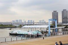 Τόκιο, Ιαπωνία, ταχύπλοο στην αποβάθρα Το νησί Odaiba Στοκ εικόνα με δικαίωμα ελεύθερης χρήσης
