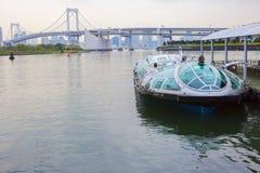 Τόκιο, Ιαπωνία, ταχύπλοο στην αποβάθρα Το νησί Odaiba Στοκ φωτογραφίες με δικαίωμα ελεύθερης χρήσης