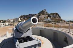 100-τόνος πυροβόλο όπλο - Anchorage του Nelson Στοκ Φωτογραφία