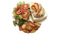 τόνος σάντουιτς σαλάτας Στοκ Φωτογραφία