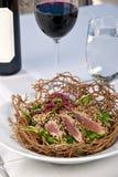 τόνος σαλάτας γευμάτων ahi Στοκ Εικόνες