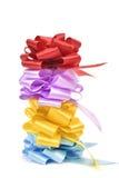 Τόξα κορδελλών δώρων των διαφορετικών χρωμάτων Στοκ Εικόνα
