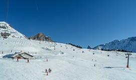 Τόξα Les χιονοδρομικών κέντρων - Λα Plagne, Γαλλία Στοκ φωτογραφίες με δικαίωμα ελεύθερης χρήσης