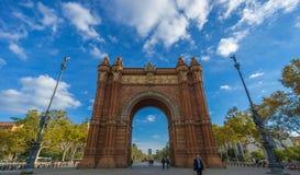 τόξο Βαρκελώνη de triomf Στοκ εικόνες με δικαίωμα ελεύθερης χρήσης