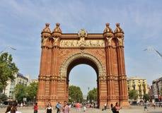 τόξο Βαρκελώνη de triomf Στοκ Εικόνα