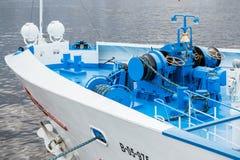 Τόξο ενός σκάφους πορθμείων Στοκ εικόνες με δικαίωμα ελεύθερης χρήσης