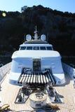 Τόξο ενός Superyacht Στοκ εικόνα με δικαίωμα ελεύθερης χρήσης