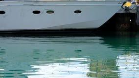 Τόξο μιας βάρκας ναύλωσης που ελλιμενίζεται στο λιμάνι του Ουέλλινγκτον, Νέα Ζηλανδία φιλμ μικρού μήκους
