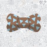 Τόξο στο άνευ ραφής σχέδιο κινούμενων σχεδίων doodle hipster Στοκ Εικόνες